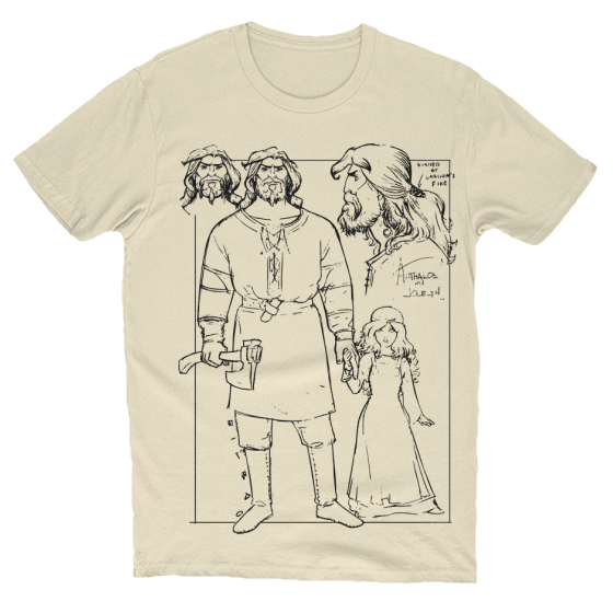 Anthalos Character Design T-Shirt Creme