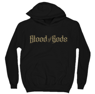 Blood of Gods Gold Title Hoodie Black