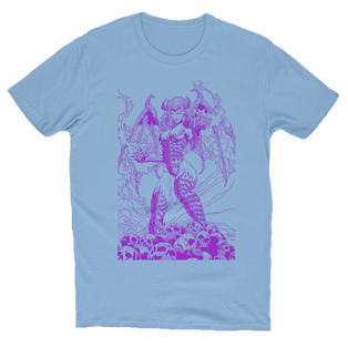 Beautful Nightmare Artwork T-Shirt Baby Blue