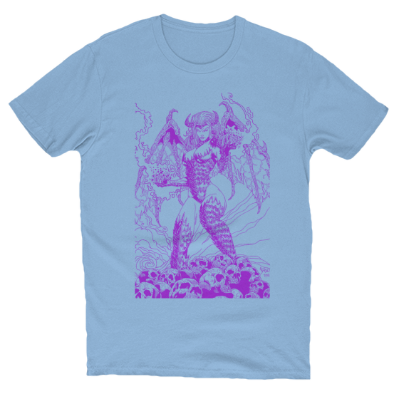 Beautful Nightmare Artwork T-Shirt Baby Blue