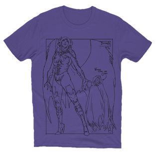 Bithra Character Design T-Shirt Purple