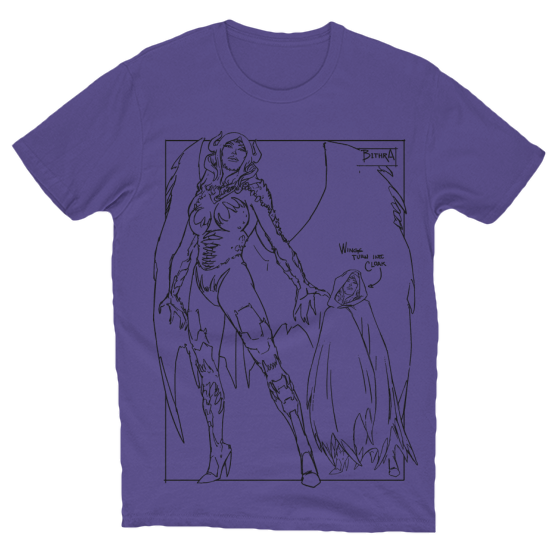 Bithra Character Design T-Shirt Purple