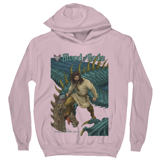 Anthalos the Slayer Cover Hoodie Light Pink