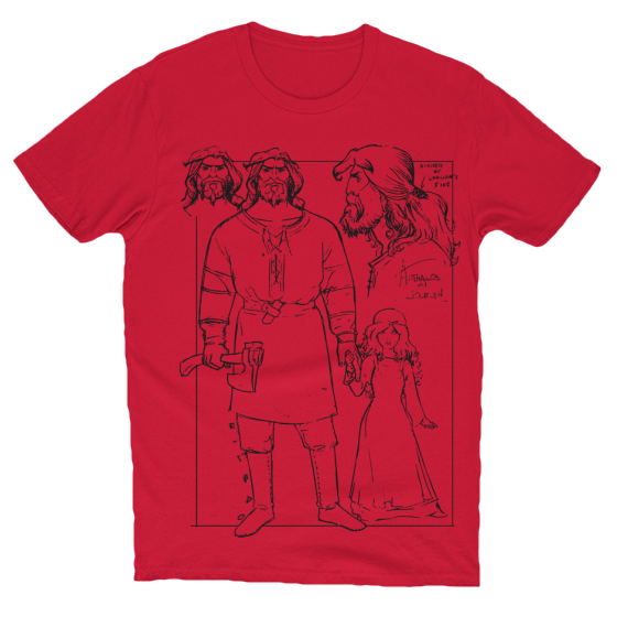 Anthalos Character Design T-Shirt Red
