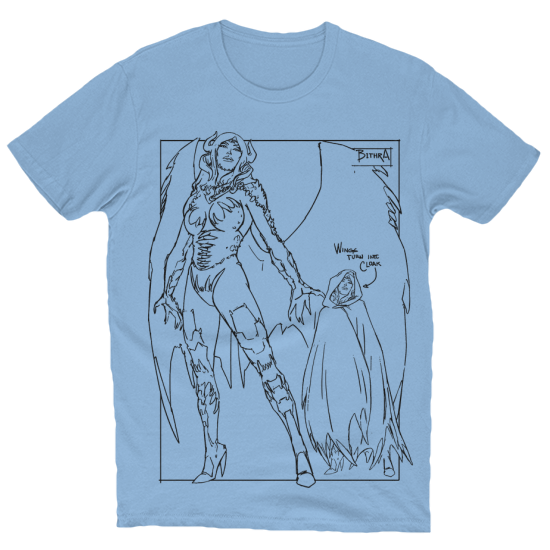 Bithra Character Design T-Shirt Baby Blue