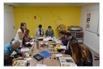 Travail préparatoire au musée Rigaud