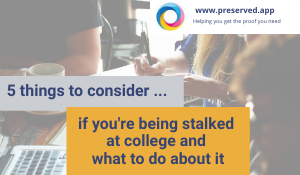 5 ways to know if you're being stalked at college - and what to do about it