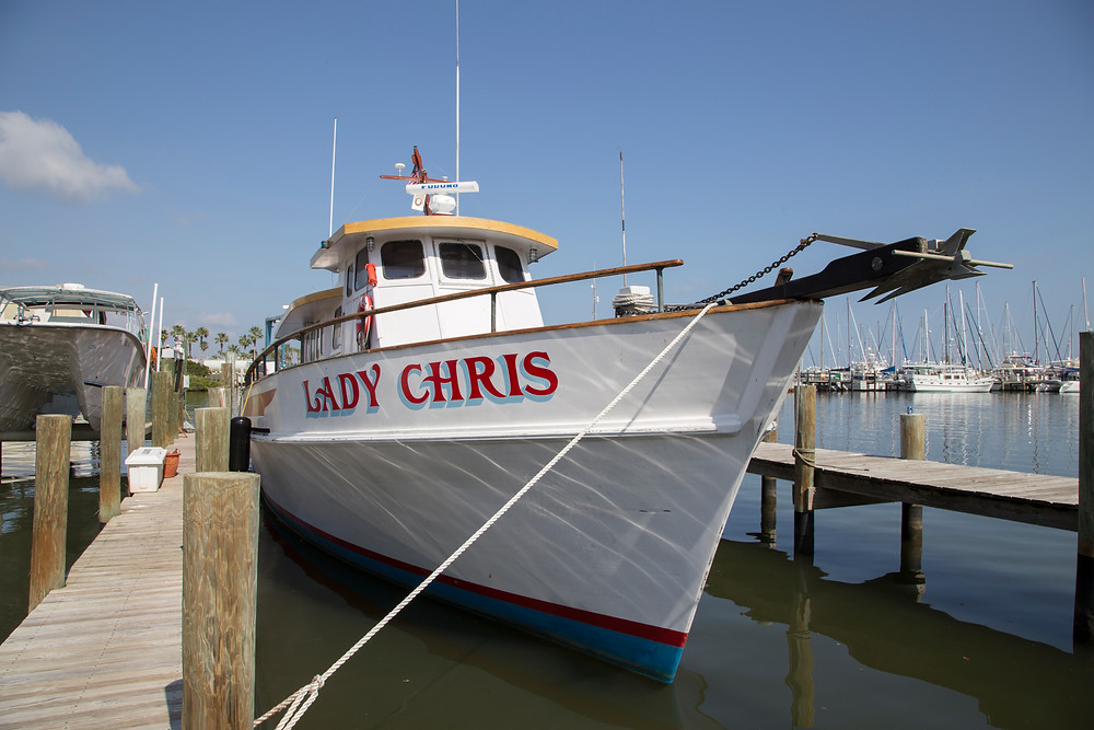 Lady Chris at dock in Ft. Pierce, FL.