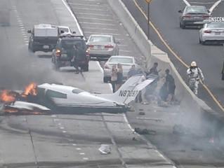 Cessna 310 Crashes on 405 Freeway