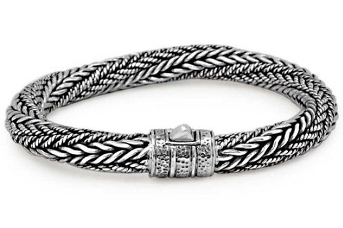 The Multi Braided - Handmade Sterling Silver Bracelet