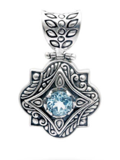 The Celtic - Handmade Sterling Silver Pendant with Gemstone