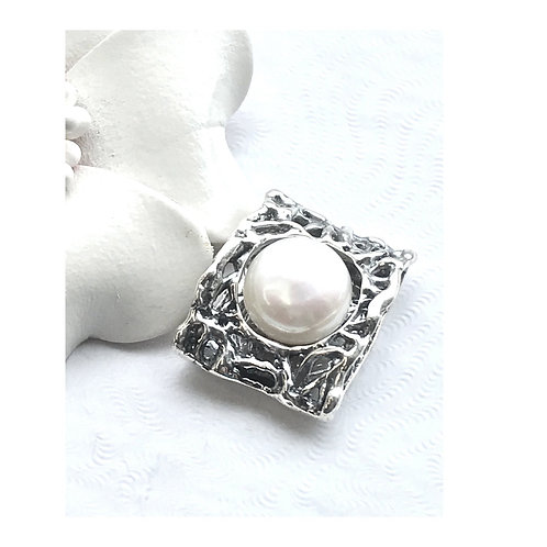 The Captive - Handmade Sterling Pendant with Natural Freshwater Pearl