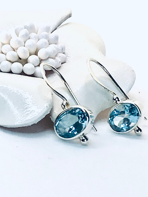 The Purest - Handmade Sterling Silver Earrings with genuine stones