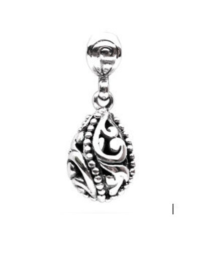 The Rain Drop - Hand Carved Sterling Silver Pendant