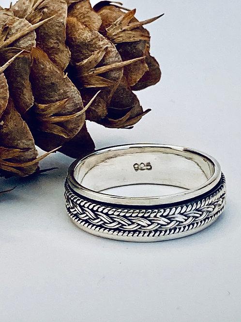 The Thin Men - Handmade Sterling Silver Meditation Ring