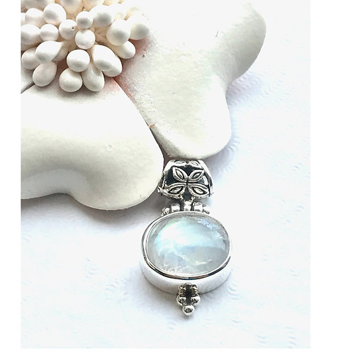The Angelic - Handmade Sterling Silver Pendant with Moonstone