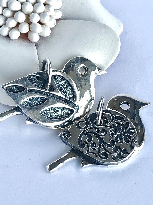 The Spiritual - Handmade Sterling Silver Bird Pendant