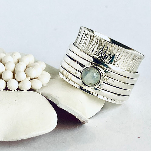 The Diaphanous - Handmade Meditation Ring with Moonstone