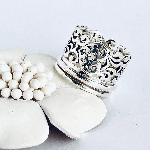 The Filigree Meditation - Handmade Sterling Silver Meditation Ring