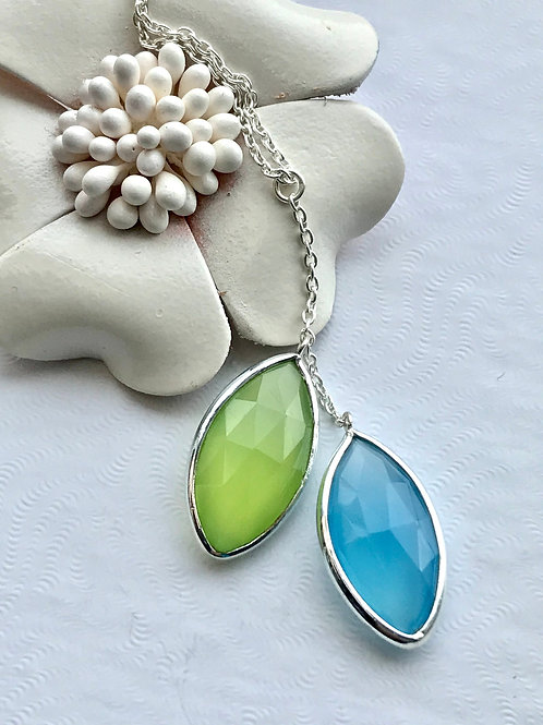 The Summer Sisters - Handmade Sterling Silver necklace with gemstones