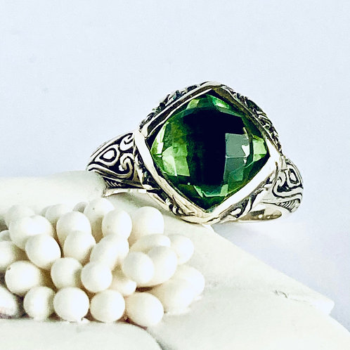 The Charming in Green - Handmade Sterling Silver Green Amethyst