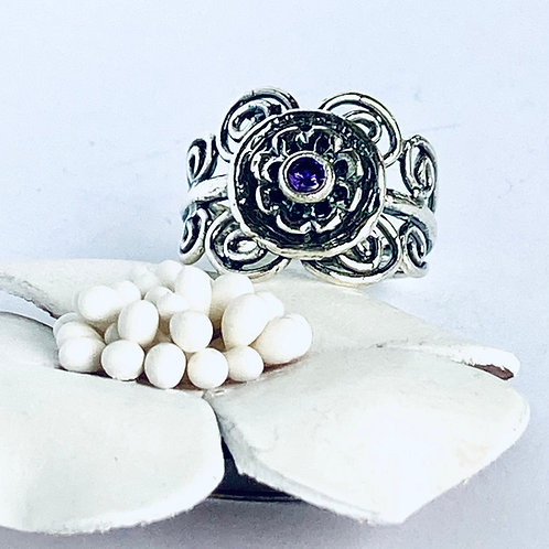 The Lovely - Handmade Sterling Silver Ring with Amethyst