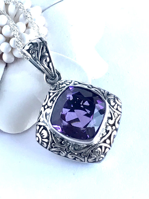The Blazing - Handmade Sterling Silver with Amethyst