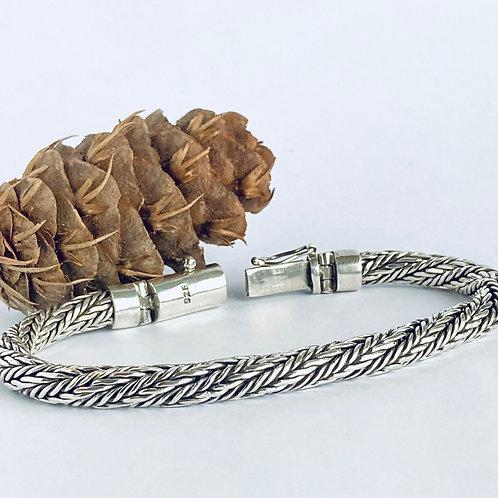 The Twisted Rope - Handmade Sterling Silver Bracelet Dragon Bracelet