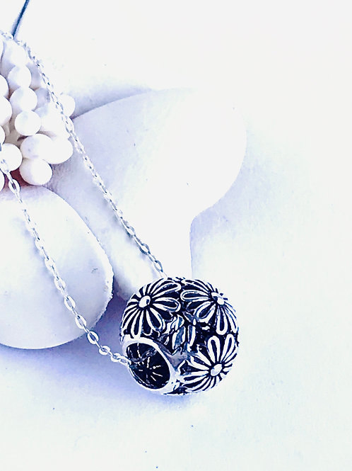 The Daisies - Handmade Sterling Silver Floral Pendant