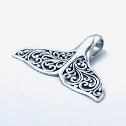 The Spirited - Handmade Sterling Silver Whale Tail Pendant