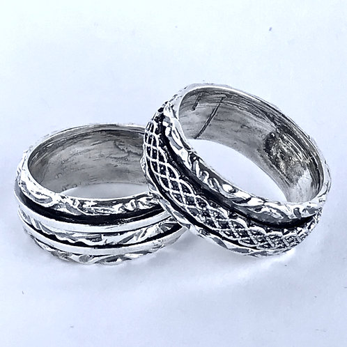 The Brothers - Handmade Sterling Silver Meditation Ring
