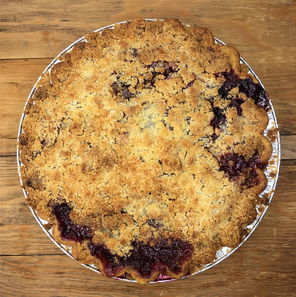Peach Blueberry Crumb Pie
