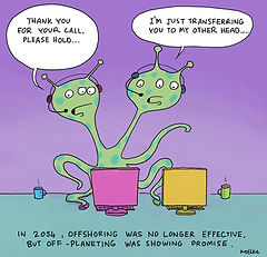 Alien Cartoon | LimeBridge | Custmer Experience Consultants