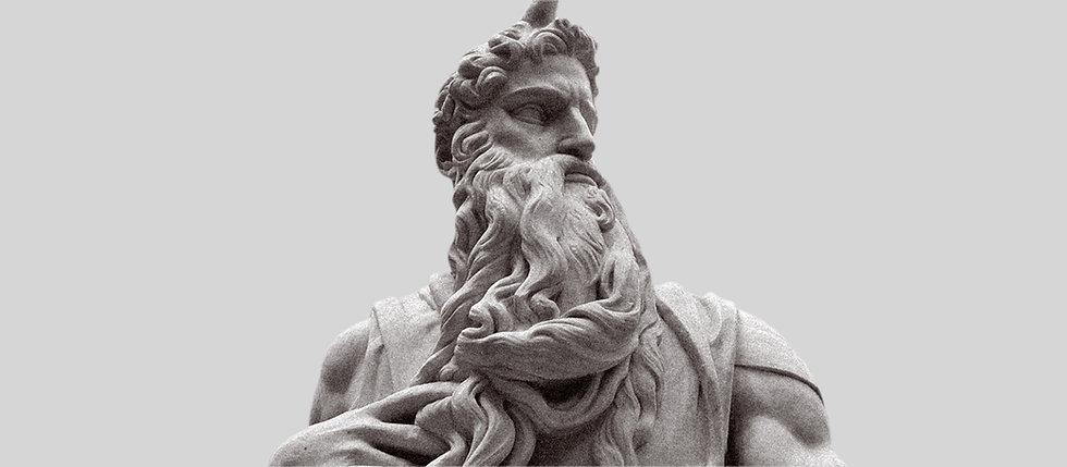 Greek sculpture in white background