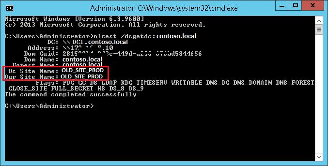 nltest /dsgetdc:domain