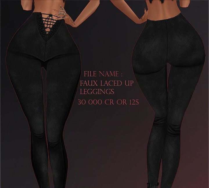 Faux Laced Up Leggings