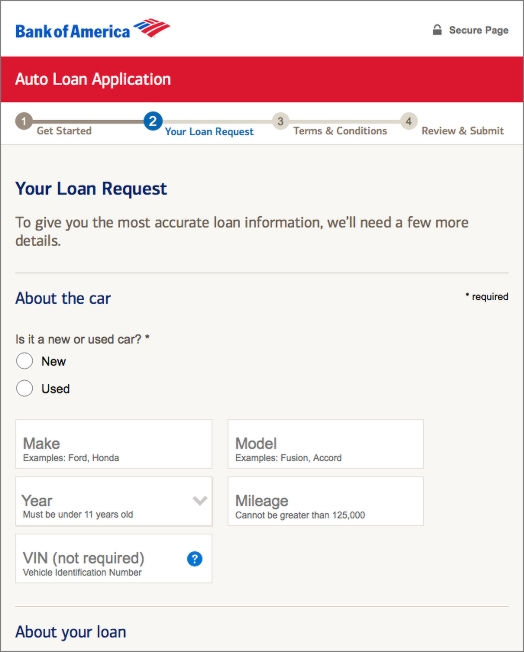 Auto Loans Live Site Screenshot