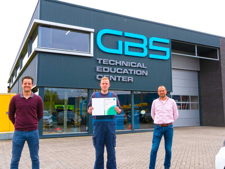 Eerste student afgestudeerd bij GBS TEC