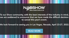 NAB anunció la cancelación de su edición 2021