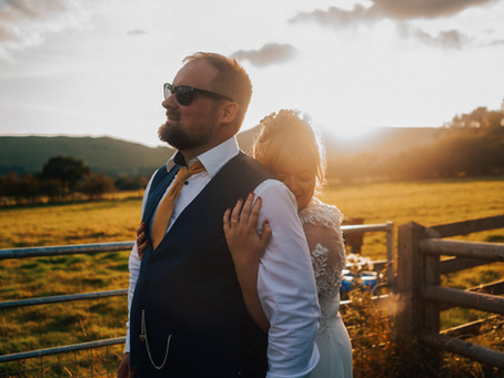 Beth and Jack, DIY wedding in the Peak District