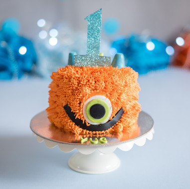 Cookie Monster Cake Smash