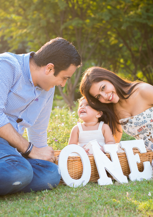 First Birthday Outdoor Park Family