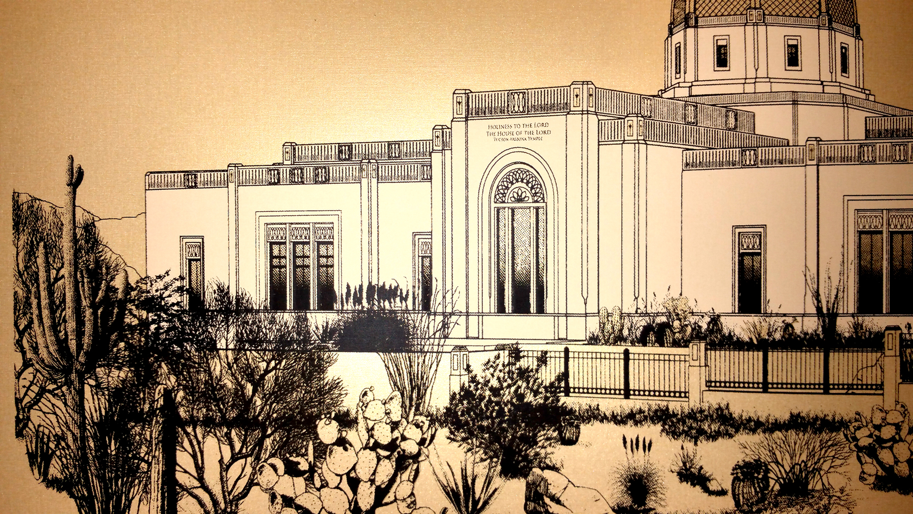 Tucson Temple poster - left detail