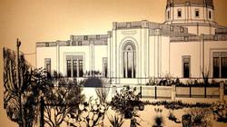 Tucson Temple poster - left detail