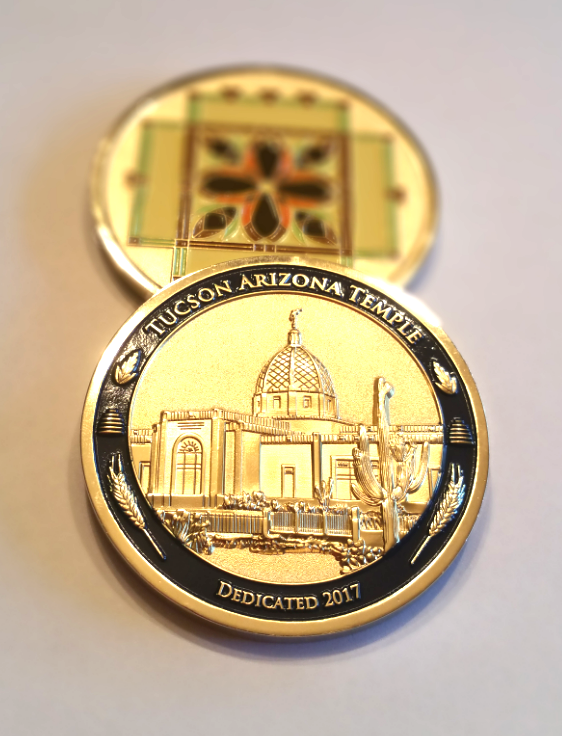 LDS Temple coin, Tucson Arizona Temp