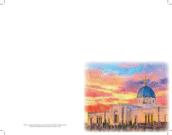Temple sunset watercolor