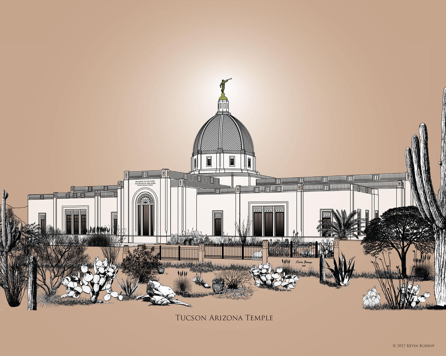 Tucson Temple 8 x 10