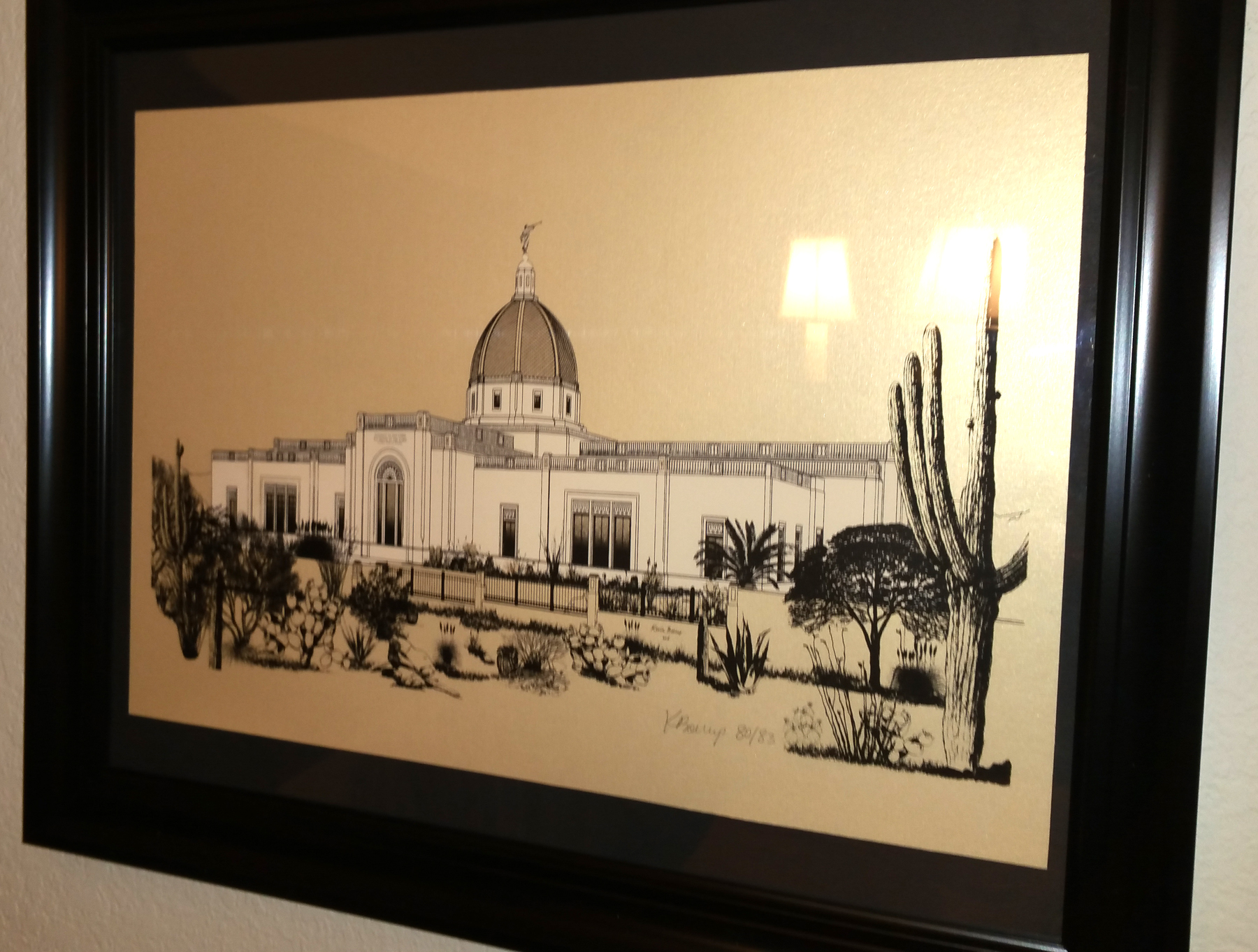 Tucson Temple art poster