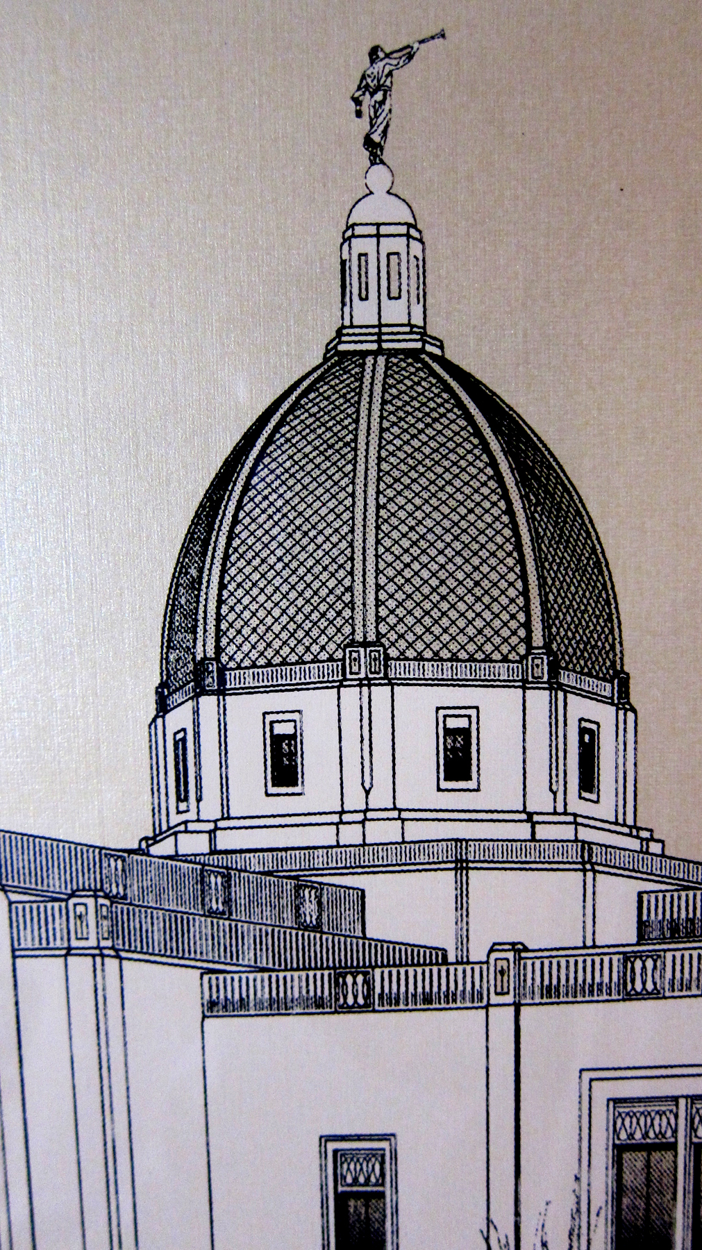 Tucson Temple poster - dome detail