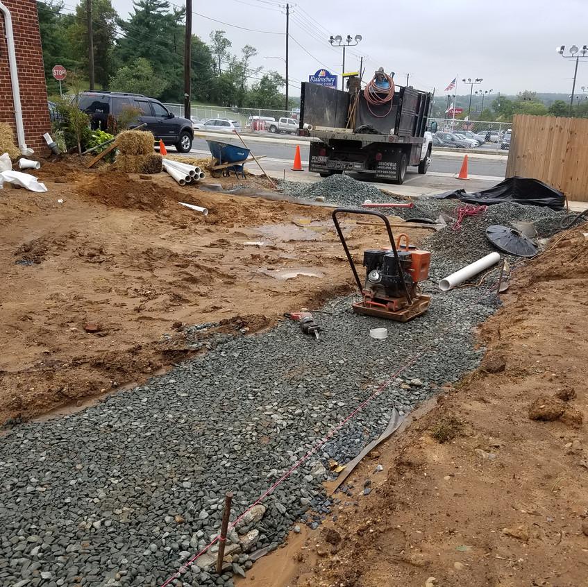 gravel base course